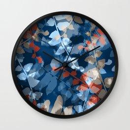 Blue Fern Dance Wall Clock