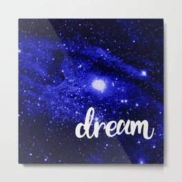 Blue Galaxy Dream Metal Print