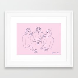 l'Amie Taciturne Framed Art Print