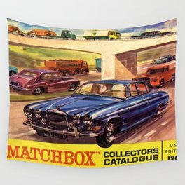 1964 Toy Car Matchbox Collector's Catalog Poster Wall Tapestry