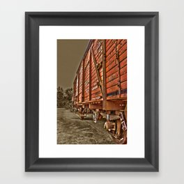 Road less traveled- old train Framed Art Print
