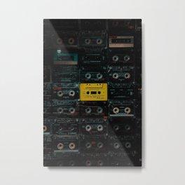 Cassette Metal Print