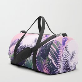 Jungle Sunrise - Ultra violet, green, pink and purple Duffle Bag