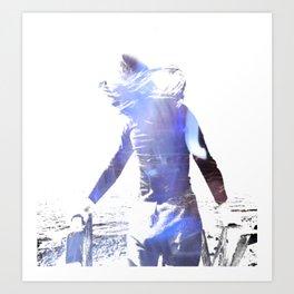 Girl in the sun Art Print