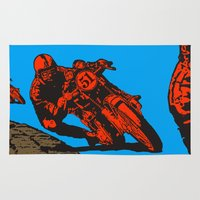 motorcycle Area & Throw Rugs featuring Motorcycle by bike51design