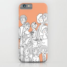 Gay lovers iPhone Case