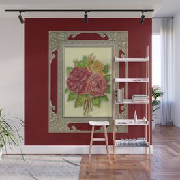 Bunch of Roses red design Wall Mural
