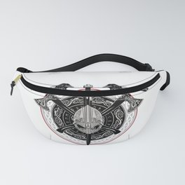 Valhalla Odin design with Huggin and Muninn and axe/helmet Fanny Pack