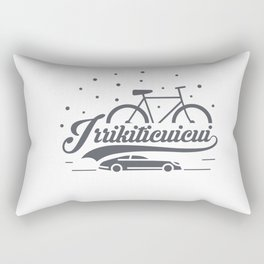 Bicycle with stars and small car Rectangular Pillow