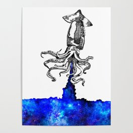 Space squid Poster