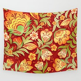 Art Flowers V9 Wall Tapestry