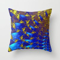 fractal Throw Pillows featuring Fractal. by Assiyam