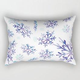Snowflakes falling Rectangular Pillow