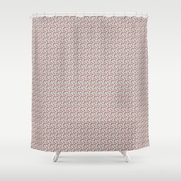 Rad Red Rounds Shower Curtain