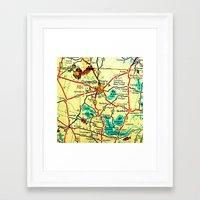 cs lewis Framed Art Prints featuring cs by kjio
