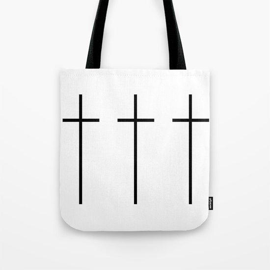 CROSSES (WHITE) Tote Bag