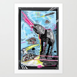 Battle of Hoth Art Print
