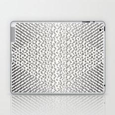 Stripes In Black & White Laptop & iPad Skin