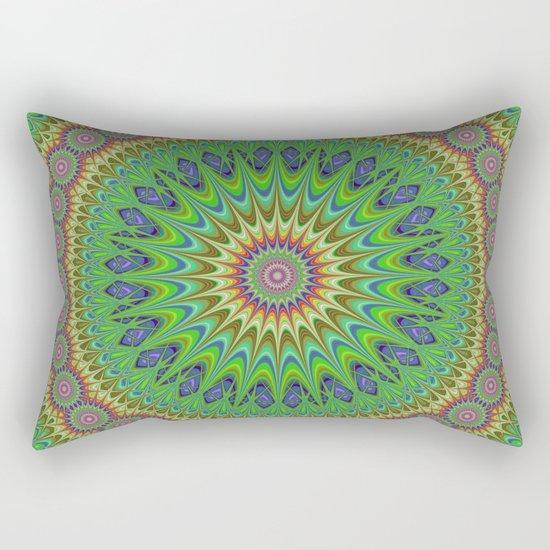 Spring star mandala Rectangular Pillow