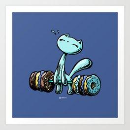 Skribbles: Weakness for doughnuts (blue) Art Print