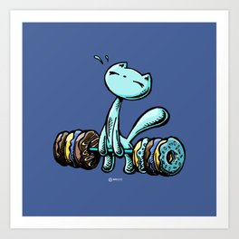 Skribbles: Weakness for doughnuts (blue) Art Print