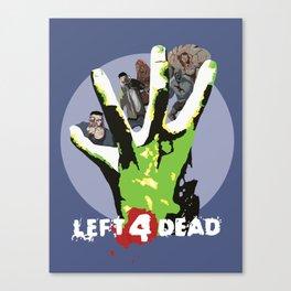 Left 4 Zombies Canvas Print