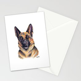 German Shepard - Dog Portrait Stationery Cards