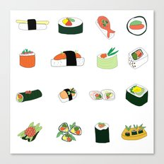 Sixteen Servings of Sushi Canvas Print
