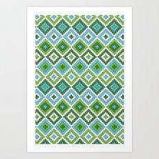 Macrame Green Art Print