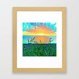 Golden Morning Glory Framed Art Print