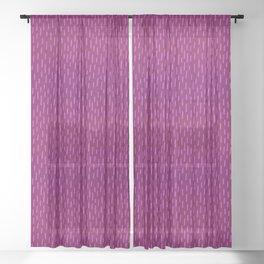 Magenta Dash Sheer Curtain