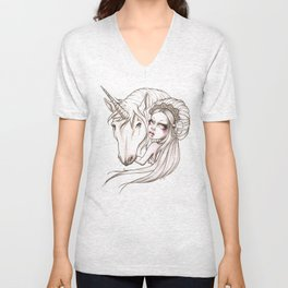 Her first Unicorn Unisex V-Neck
