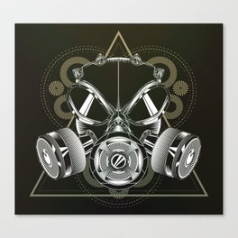 Gasmask Canvas Print