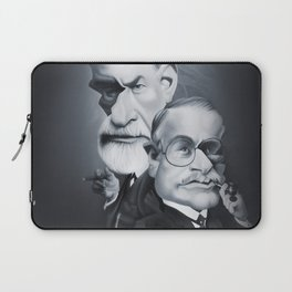 Sigmund Freud and Carl Jung Laptop Sleeve