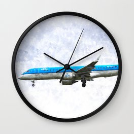 KlM Embraer 190 Wall Clock