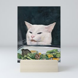 Woman Yelling at Cat Meme-4 Mini Art Print