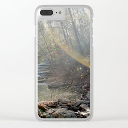 First Light Beams Clear iPhone Case