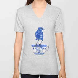 coffee loving splendid fairy wren Unisex V-Neck
