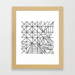 geometric shapes art Framed Art Print