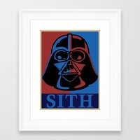 sith Framed Art Prints featuring Sith lord by coolz77