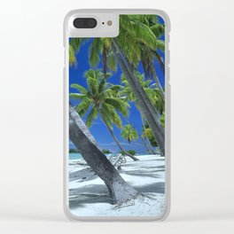 Under the Palms Clear iPhone Case