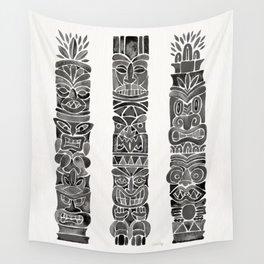 Tiki Totems – Black Wall Tapestry