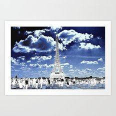 Tower Tourists in Reverse Art Print