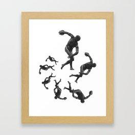 Hyacinthus Spiral Framed Art Print