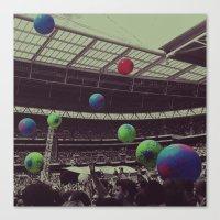 coldplay Canvas Prints featuring Coldplay at Wembley by Efua Boakye