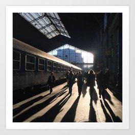 Budapest Train Station Art Print