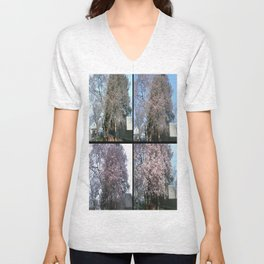 Tree Blossoms Unisex V-Neck