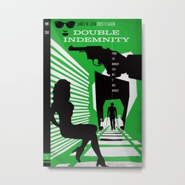 Hardboiled :: Double Indemnity :: James M. Cain Metal Print