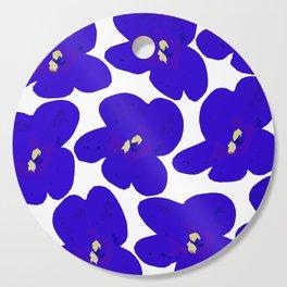 Blue Retro Flowers #decor #society6 #buyart Cutting Board