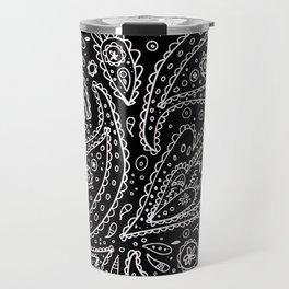 Classic Black and White Paisley Travel Mug